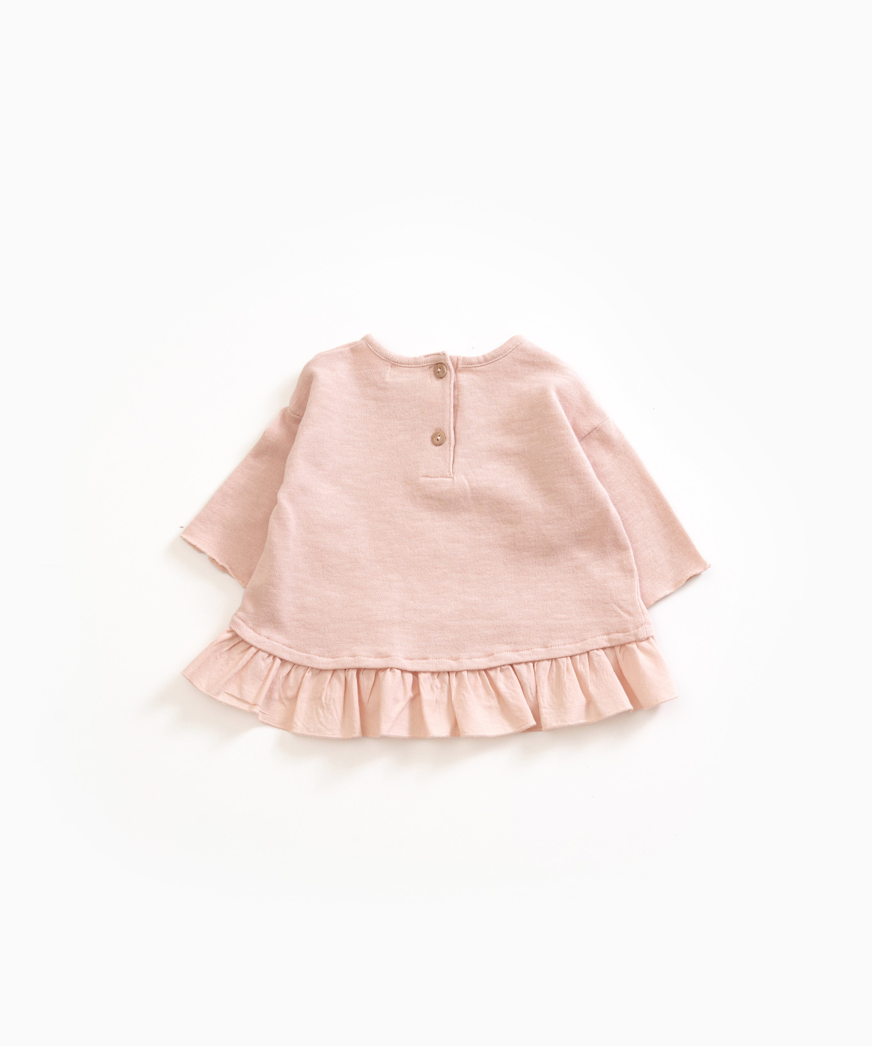 Play-up Sweater in organic cotton with frill |Rita