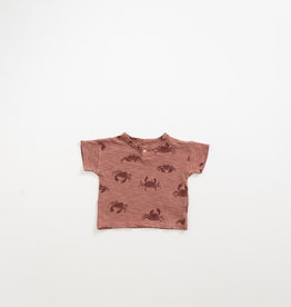 Play-up T-shirt in organic cotton with print |Old tile
