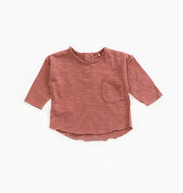 Play-up Long-sleeved t-shirt in organic cotton |Old tile