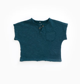 Play-up T-shirt in organic cotton with pocket |Deep