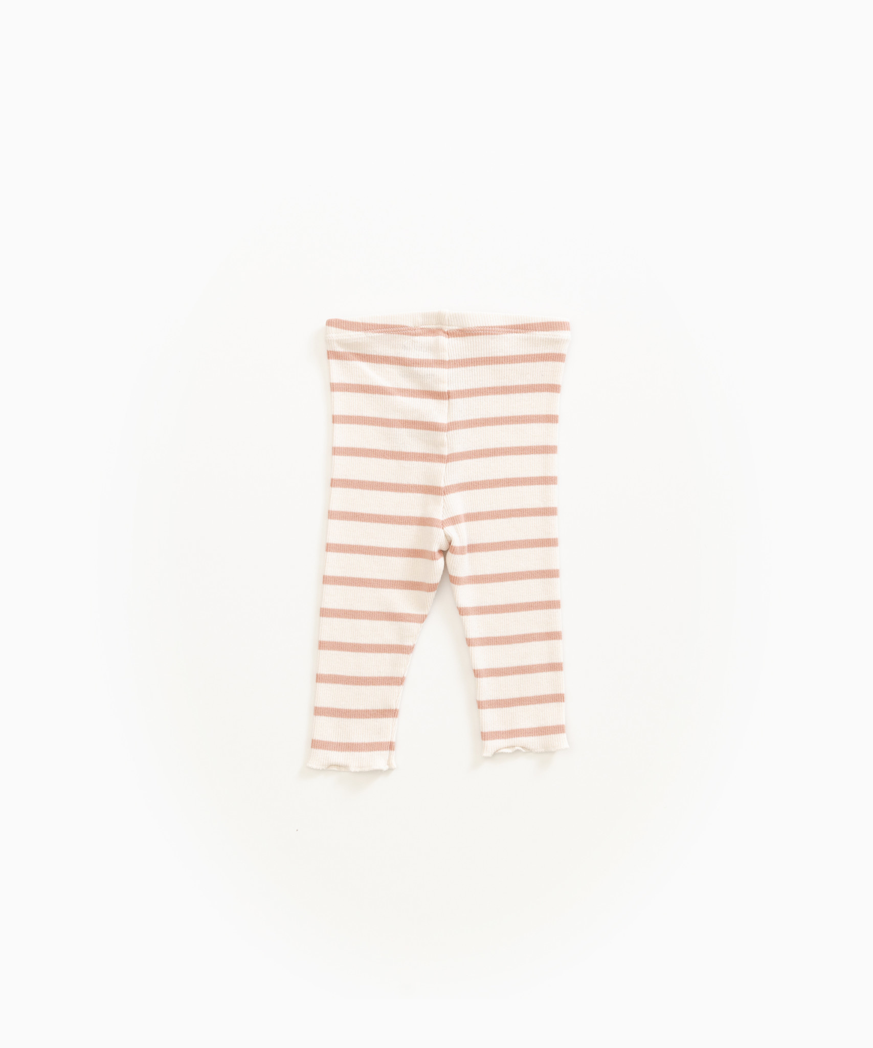 Play-up Striped leggings in organic cotton |Smooth