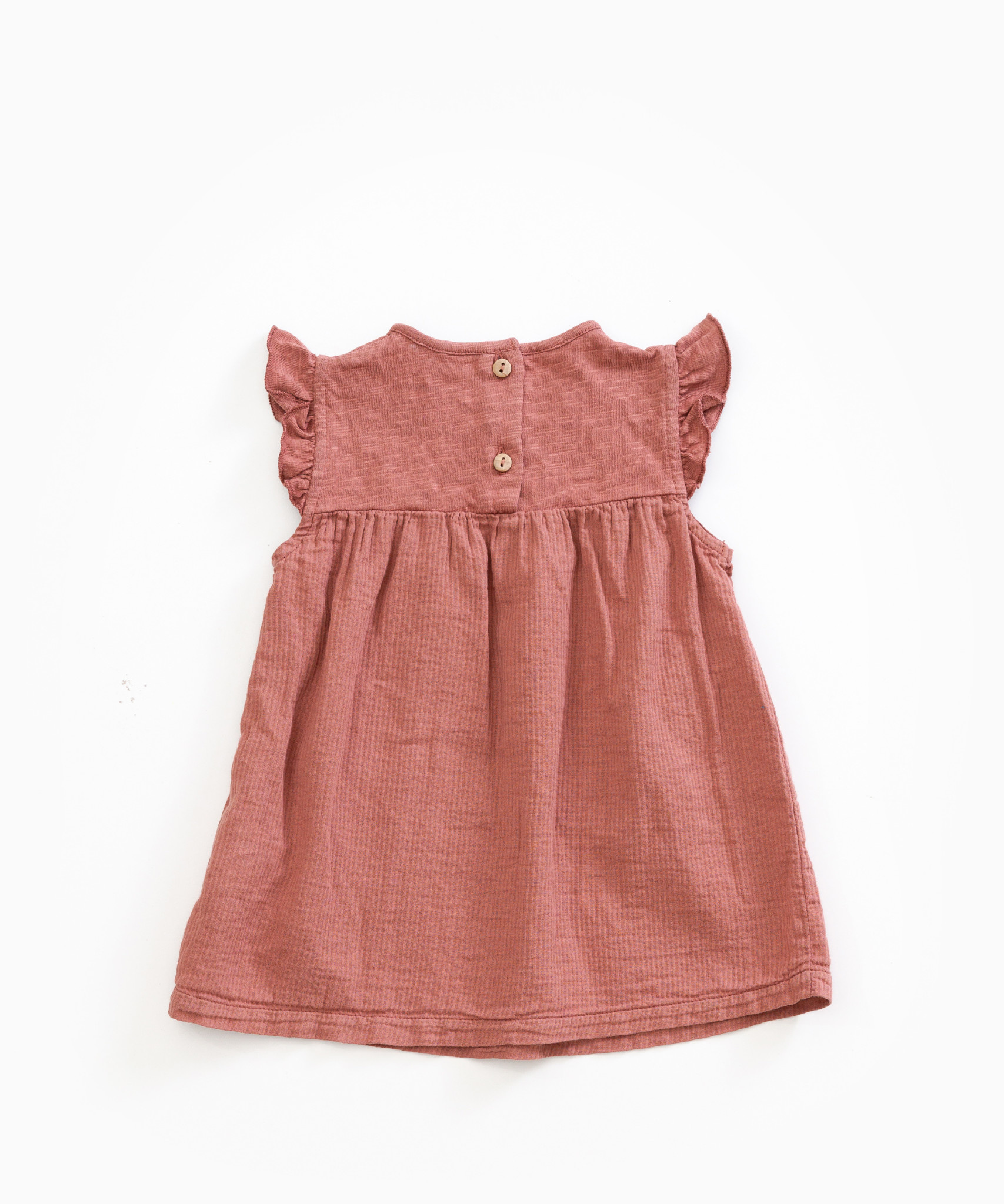 Play-up Dress in organic cotton with pockets |Old tile