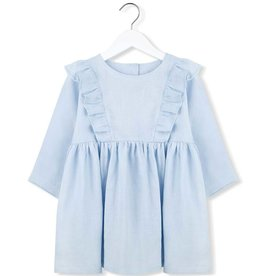 Kids on the moon Zenith linen frill dress