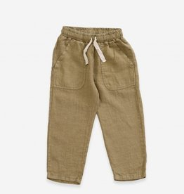 Play-up Linen Trousers | algae