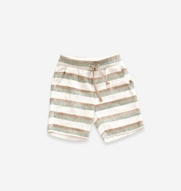 Play-up Printed Terry Shorts | pearl