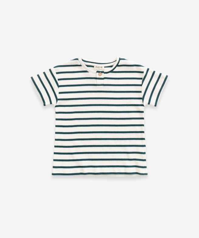 Play-up Striped Rib T-shirt