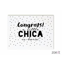 Zoedt Kaart Congrats Little chica