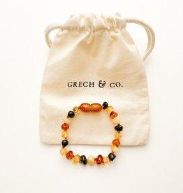 Grech & Co Baltic kinder armband Amber  | Faith 15 cm
