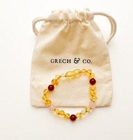 Grech & Co Baltic Amber kinder armband | Goddess 15 cm