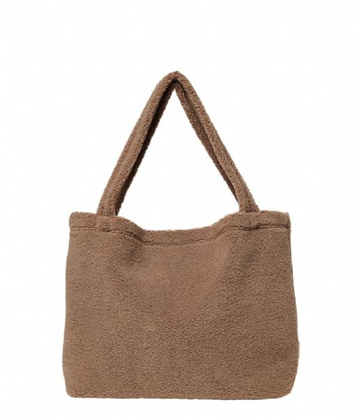 Studio Noos Brown chunky teddy mom bag