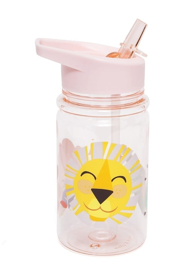 Petit Monkey Drinking bottle shiny lion pink