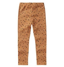 Mingo Legging rib | dots caramel /black