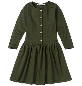 Mingo Button dress jersey | forest night