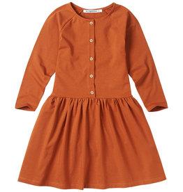 Mingo Button dress jersey | dark ginger