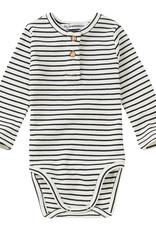 Mingo Bodysuit basics rib | stripes black/white