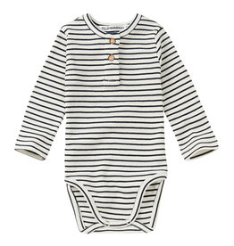 Mingo Bodysuit basics rib | stripes black/white