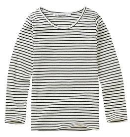 Mingo Rib top | stripes black/white