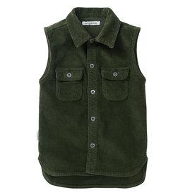 Mingo Sleeveless shirt corduroy | forest night