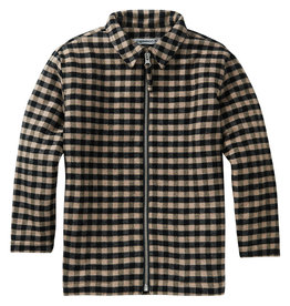 Mingo Shirt flannel | check caramel/black 4/6 jaar
