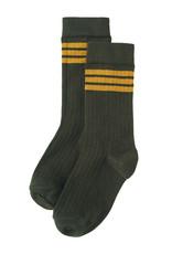 Mingo Socks rib | stripes ochre/forest night