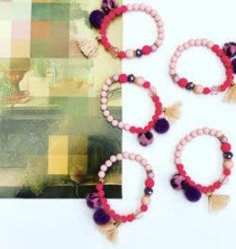 Feest-beest pretty in pink armbandje