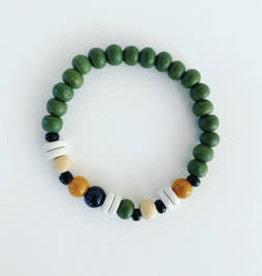 Feest-beest green nature armbandje