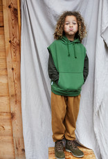 Mingo Sleeveless hoodie | moss green