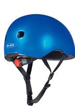 Micro steps Micro helm deluxe blauw metallic