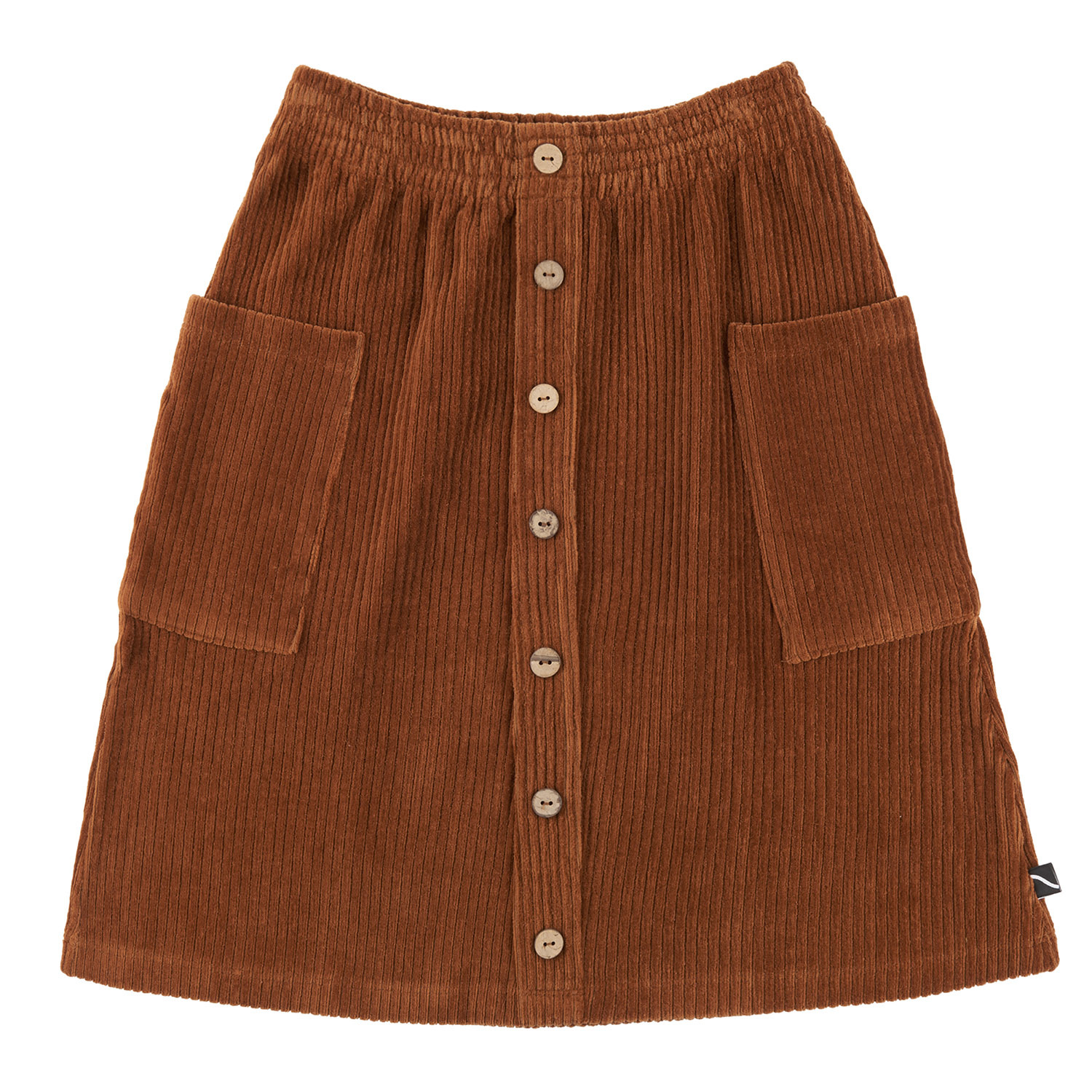CarlijnQ Midi skirt with buttons and pockets| brown