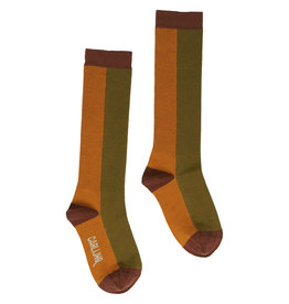 CarlijnQ Knee socks | pumpkin/green