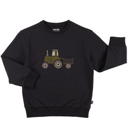 CarlijnQ Tractor sweater   zwart 134/140
