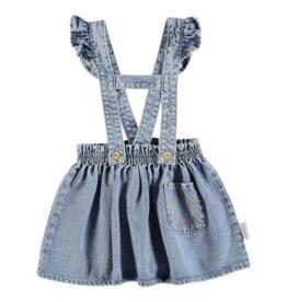 piupiuchick Short skirt w/ straps light blue denim jeans