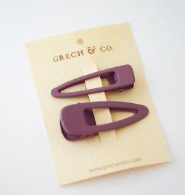 Grech & Co Matte clips set of 2 | Burlwood