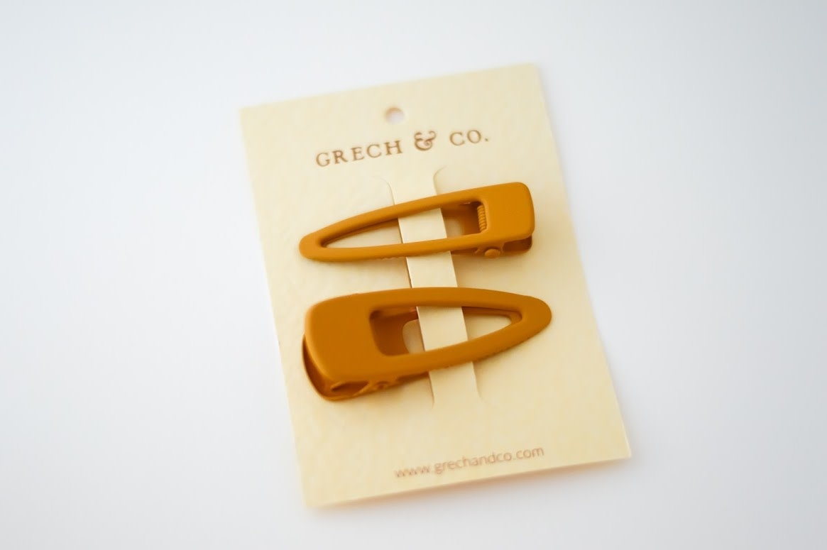 Grech & Co Matte clips set of 2 | Spice