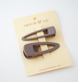 Grech & Co Matte clips set of 2 | Stone