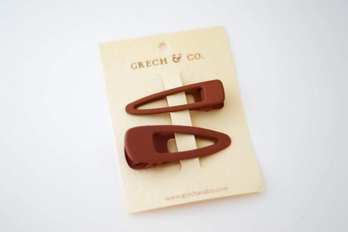 Grech & Co Matte clips set of 2 | Rust