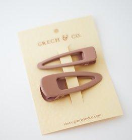Grech & Co Matte clips set of 2 | shell
