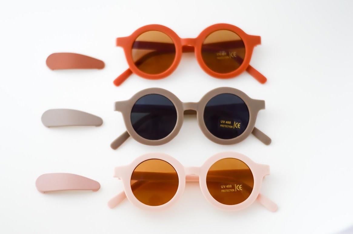 Grech & Co Snap Matte Clip Set of 3 - Stone, Shell, Rust