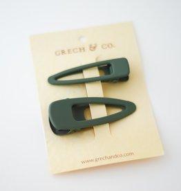 Grech & Co Matte clips set of 2 | fern