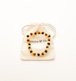 Grech & Co Baltic Amber volwassen armband | Faith  18 cm