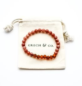 Grech & Co Chakra sunstone volwassen armband/enkelband | 21 cm