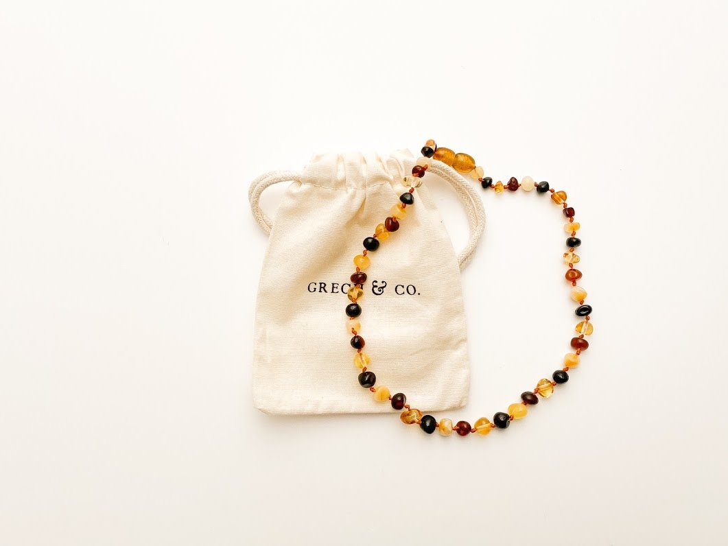 Grech & Co Baltic Amber  Kinder ketting | Faith 31 cm