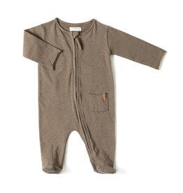 Nixnut Zip onesie | olive stripe