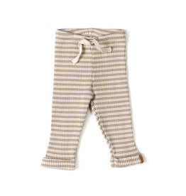 Nixnut Rib legging | biscuit stripe
