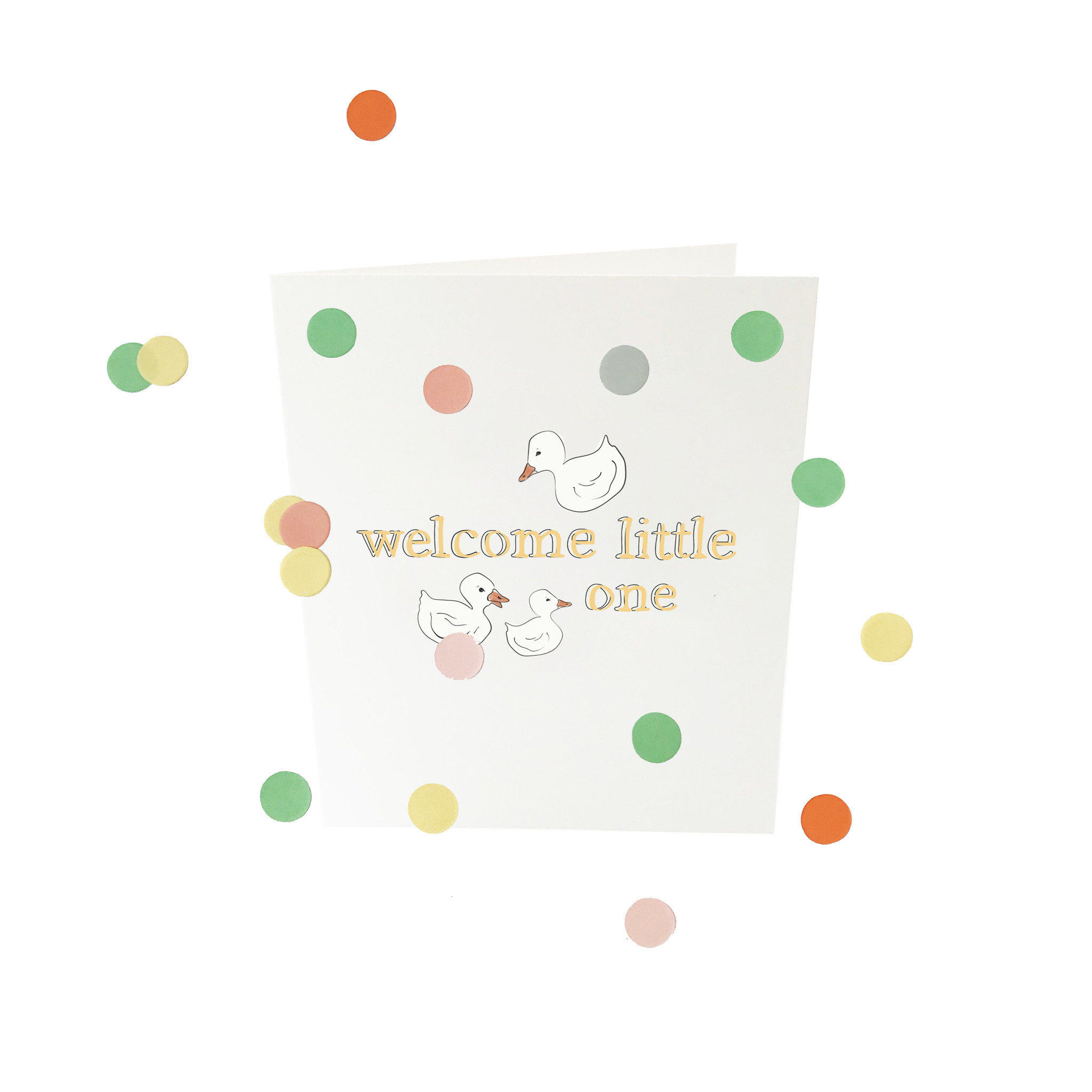 THE GIFT LABEL Confetti card | Welcome little one
