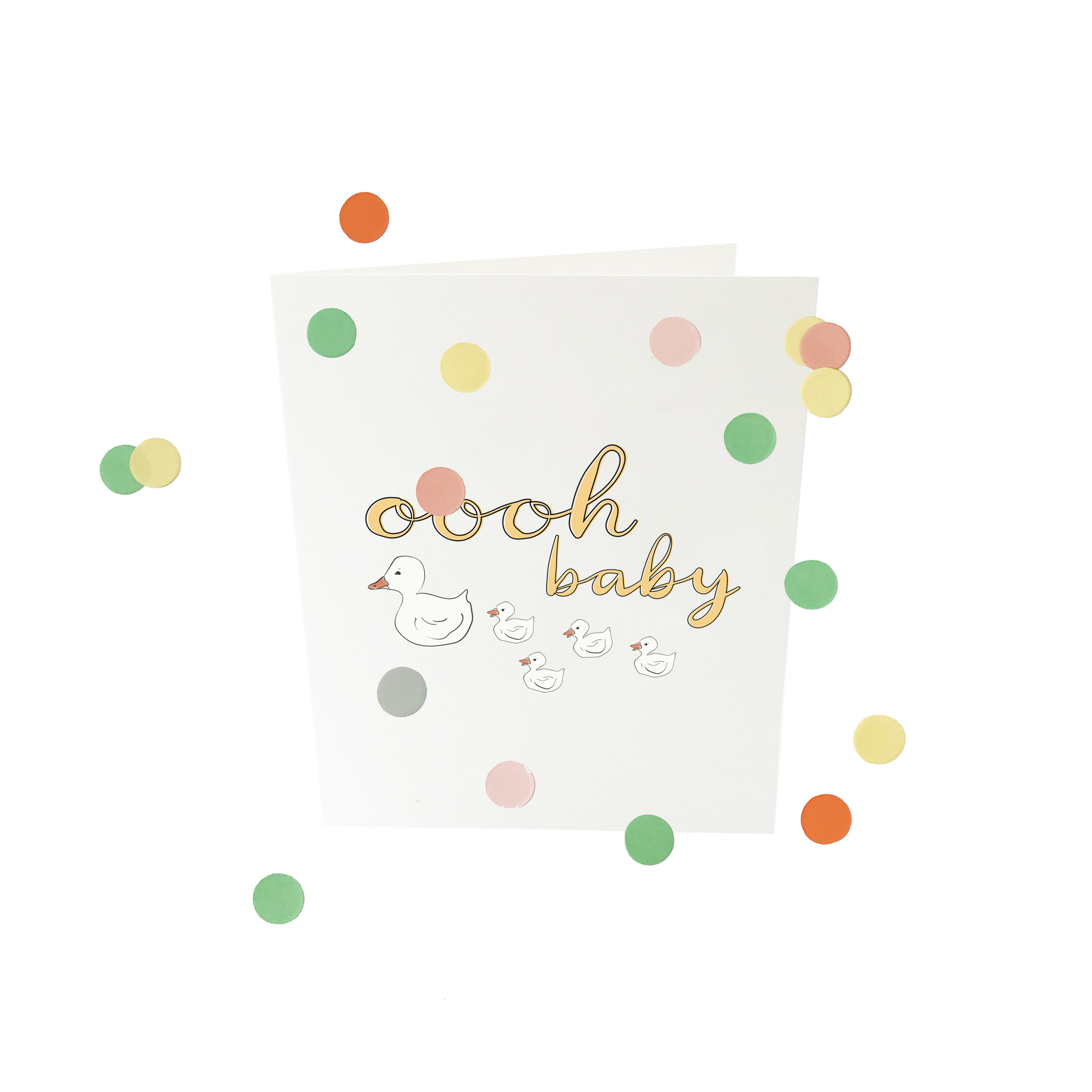 THE GIFT LABEL Confetti card | Oooh baby