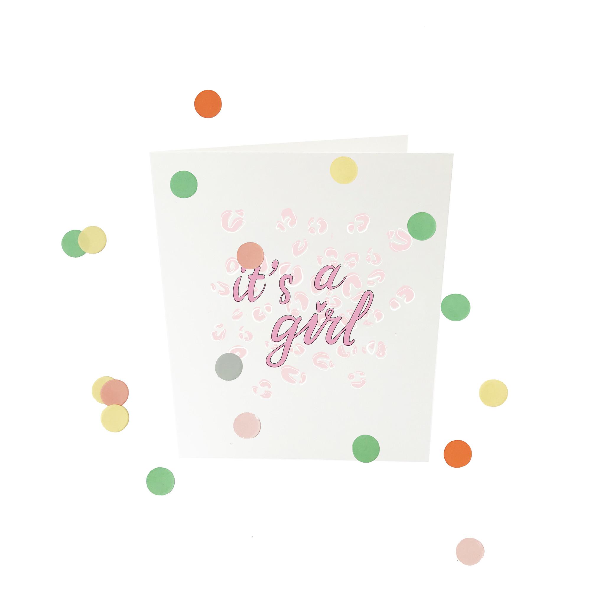 THE GIFT LABEL Confetti card | It's a girl