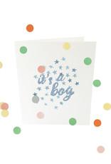 THE GIFT LABEL Confetti card | It's a boy