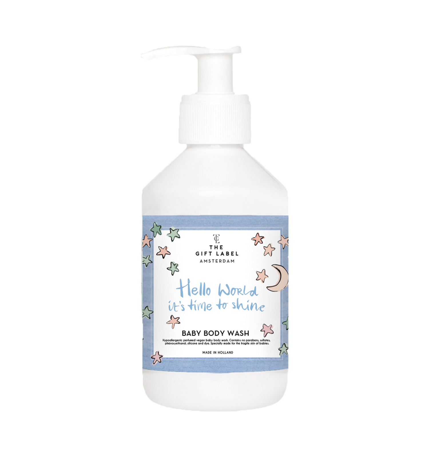 THE GIFT LABEL Baby body wash 250 ml | Hello world