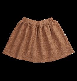Blossom kids Skirt leave drops | caramel fudge